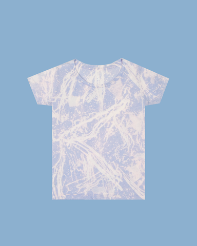 Womens Bleach Astral Blue Light Crew