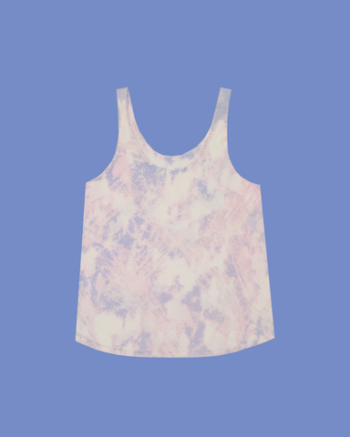 Womens Bleach Astral Blue Heavy Tank