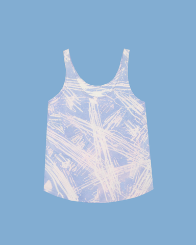Womens Bleach Astral Blue Light Tank