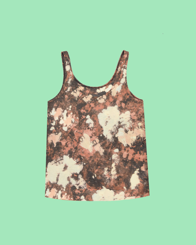 Womens Bleach Charcoal Heavy Tank