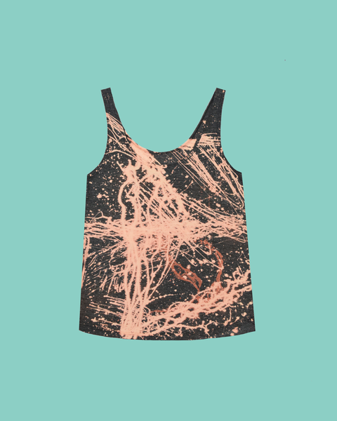 Womens Bleach Charcoal Light Tank