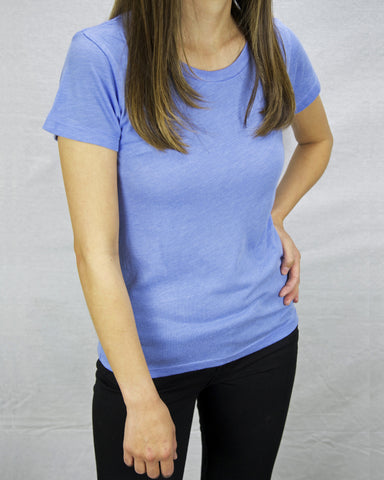 Women's blue shirt made in Los Angeles