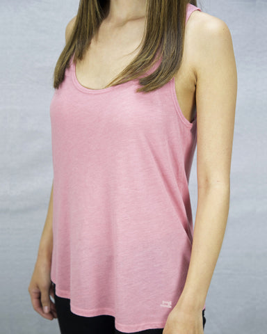 Women's pink tank top made in Los Angeles