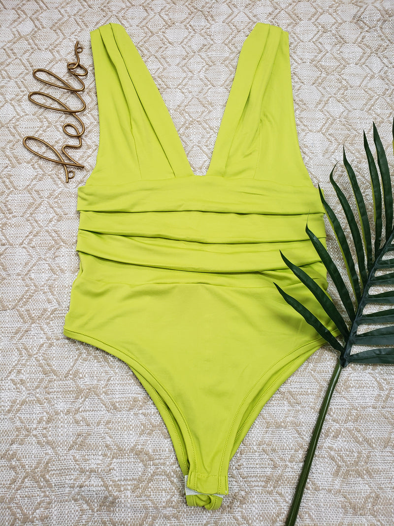 Deep V Bodysuit - Fit fashion boutique
