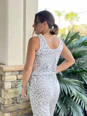 Sleeveless Leopard Print Jumpsuit