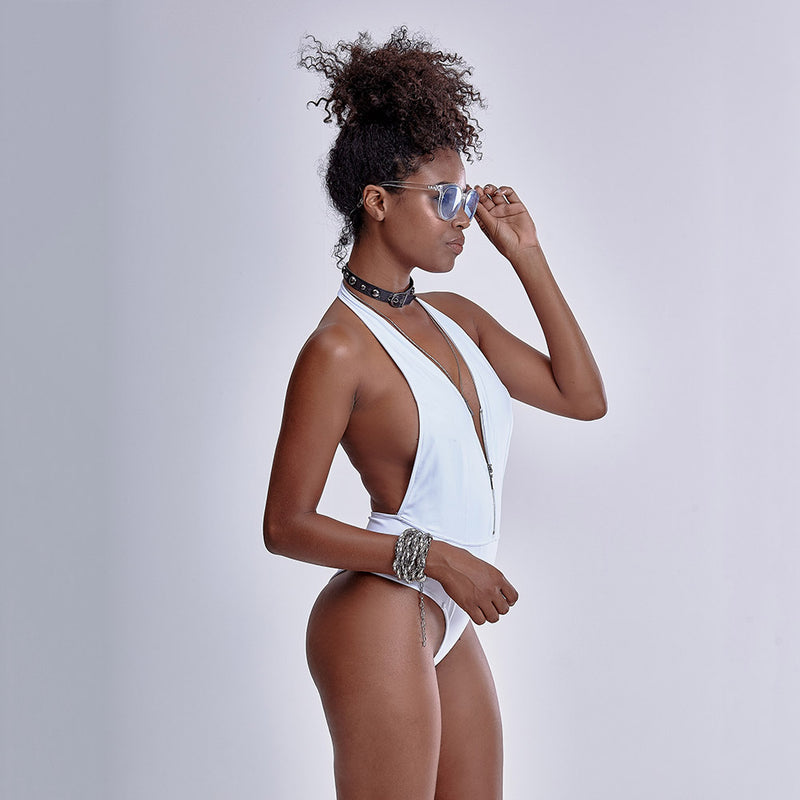 LA BELLAMAFIA White  Bodysuit - Fit fashion boutique