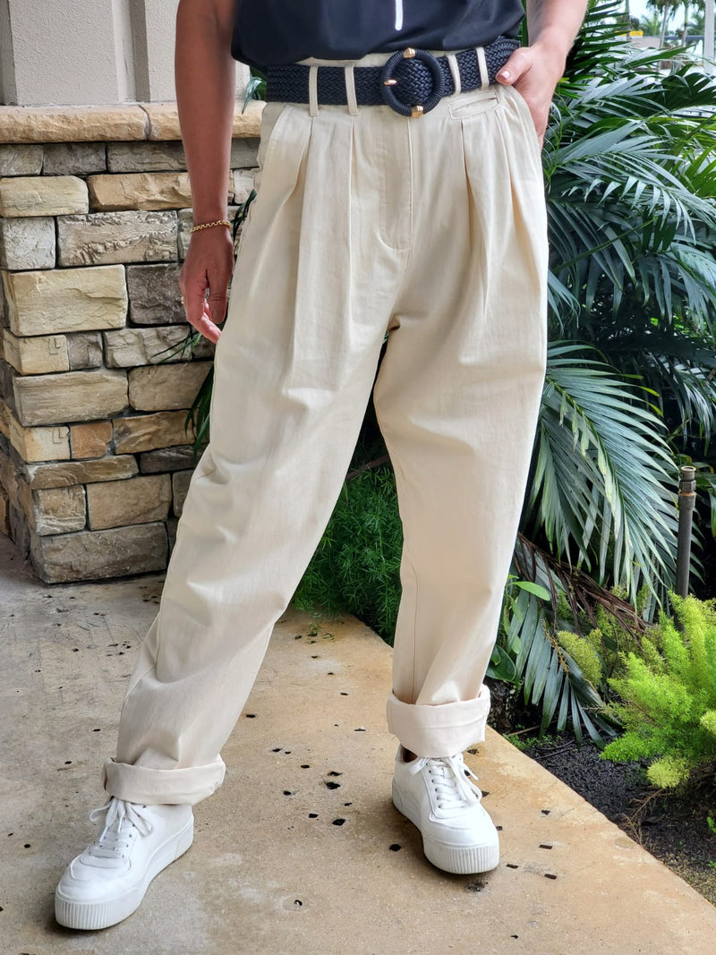 WOVEN SOLID DRESS UP PANTS