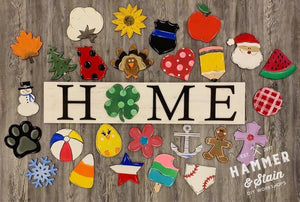 Home or Welcome interchangeable signs