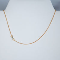 Mini Sideways Letter Necklace: Gold Dipped