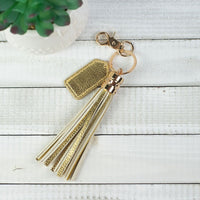 Tassel Key Chain with Tag