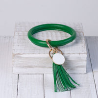 Lauren Lane Halo Tassel Bracelet Key Chain / Key Ring