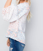 Wild about Floral Ballon Sleeve Blouse