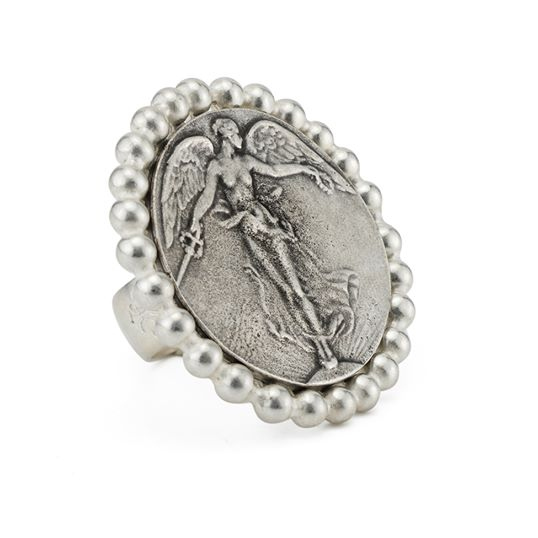 "French Kande L""Ange Petite Bezel Ring - Silver"