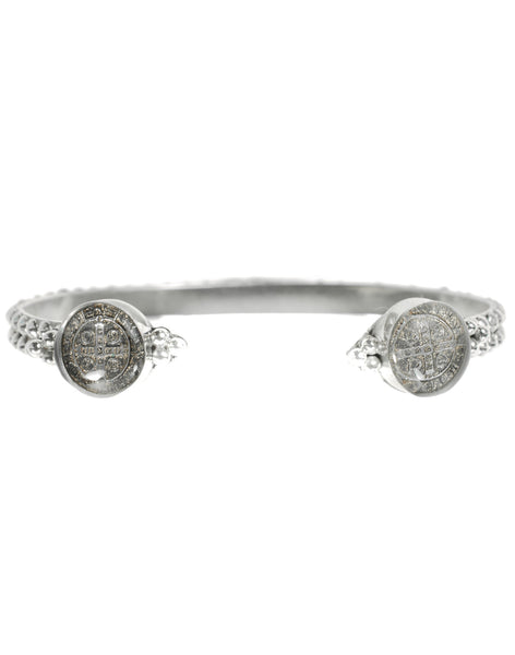 NEW! Piccolo Lucia Cuff Sterling Silver Gunmetal