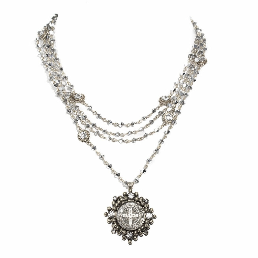 VSA Designs Cloister San Benito Necklace Black Diamond and Silver