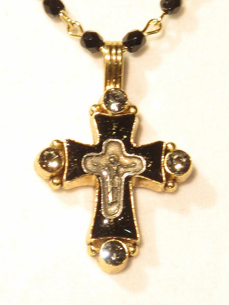 Virgins Saints & Angels Magdalena Necklace Black Jet