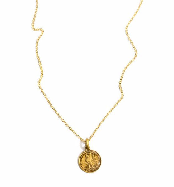 Virgins Saints & Angels Les Celeste St. Christopher Charm Necklace  - Gold