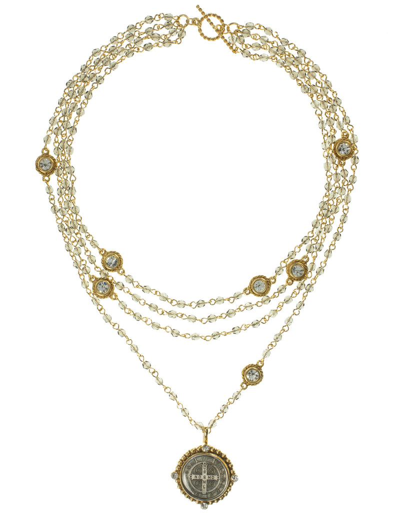 San Benito Magdalena Necklace Black Diamond and Gold by VSA Designs