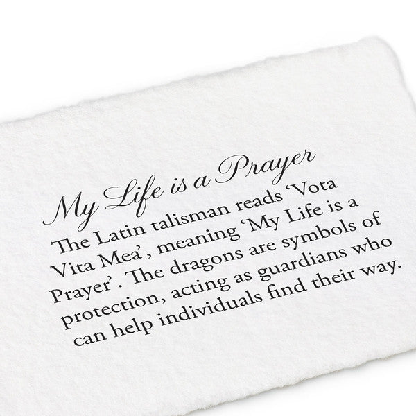 Pyrrha My Life is a Prayer Necklace in Sterling Silver