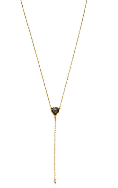 NEW!  Piccolo Lucia Charm  Short Bikini Necklace Gold Vermeil