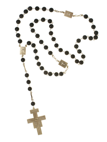 NEW! LIMITED EDITION Santo Rosary from Virgins, Saints & Angels in Black Amazonite 10mm