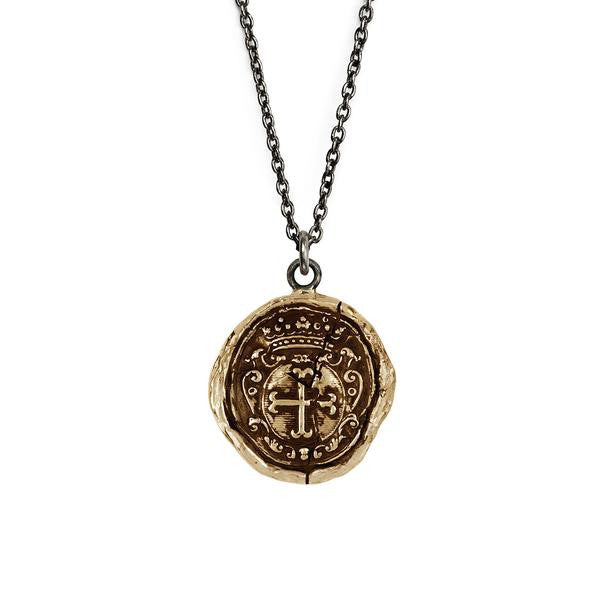 Pyrrha Trust in God Bronze Necklace