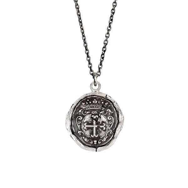 Pyrrha Trust in God Sterling Silver Necklace