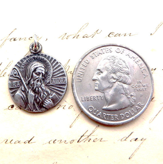 San Benito Medallion Necklace - Sterling Silver Antique Reproduction