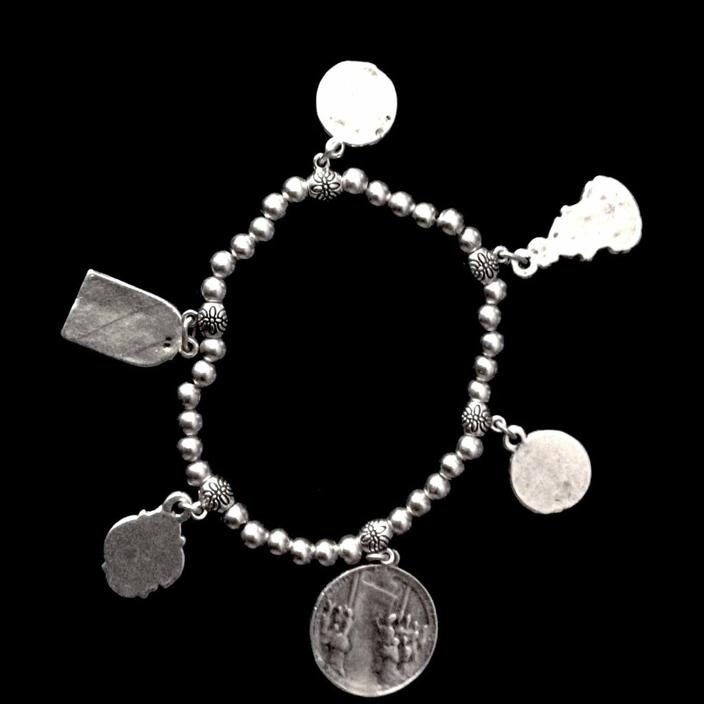 Nightingale Mountain Madonna Medal Charm Bracelet