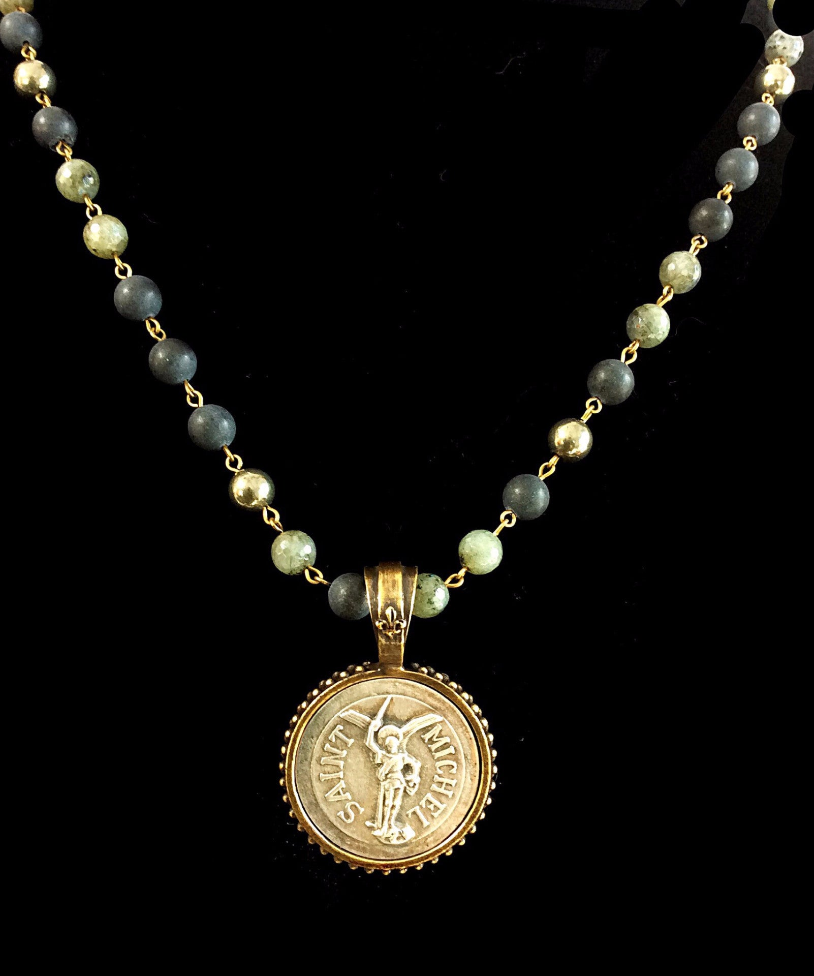 chain twine shop necklace acs gold initial medallion online cotton boutique and