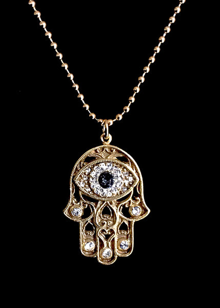 NEW! VSA Designs Limited Edition Eye of Fatima Hamsa Charm 22KT Gold Vermeil