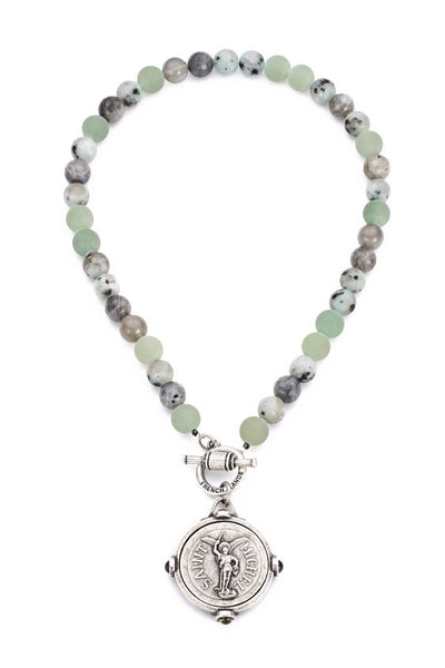 French Kande St. Michel Meadow Mix Necklace 17""