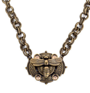 French Kande Provence Chain with Miel Medallion Necklace 17""