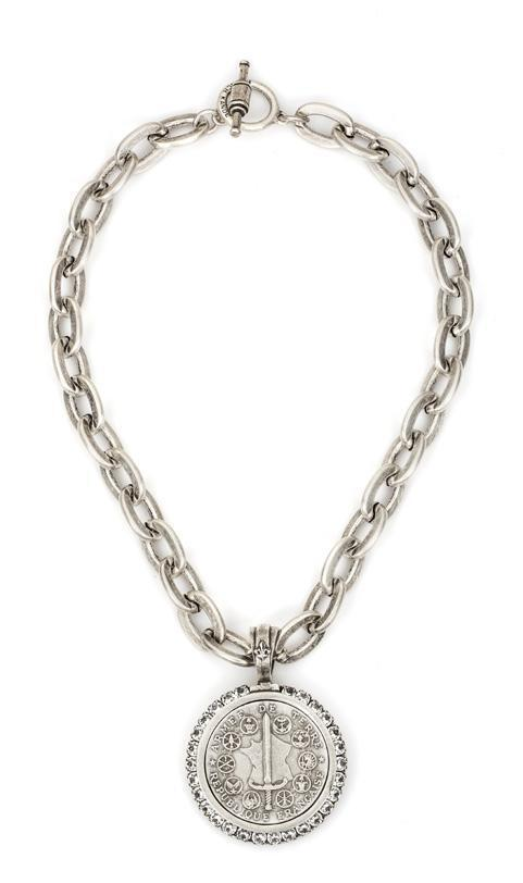 French Kande Lourdes Chain with Du Terre Medallion Necklace