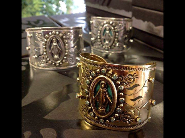 Virgins Saints and Angels Milagrosa Cuff Gold and Pacific Opal