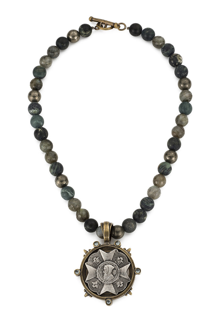 French Kande Forest Mix St. Benedict Bravoure Medallion Necklace