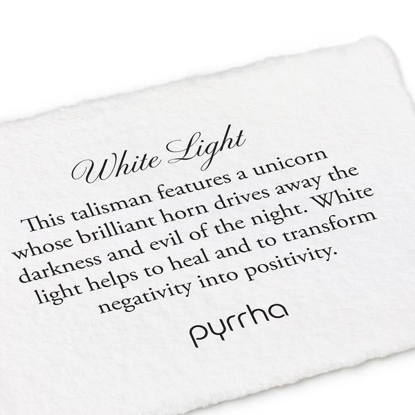 Pyrrha White Light Necklace in Silver 18""