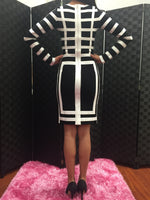 Black & White Bandage Dress