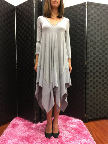 Grey Swing Dress