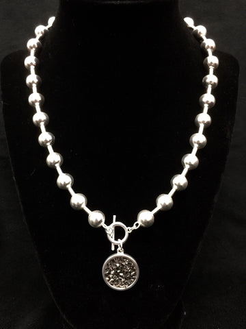 Ball Chain Necklace w/ Charm