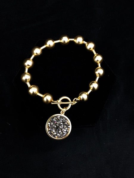 Gold Ball Chain w/ Charm