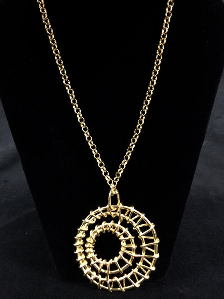 Spiral Long Necklace