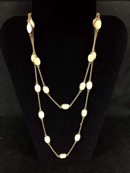 Gold Long Chain Link Necklace