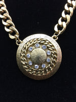 Small Medallion Chain Necklace