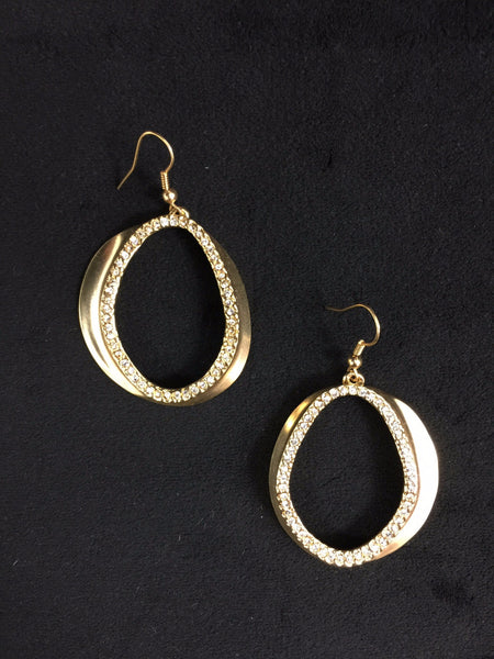 Gold Asymmetric Hoop Earrings
