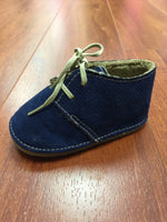 Navy Desert Booties