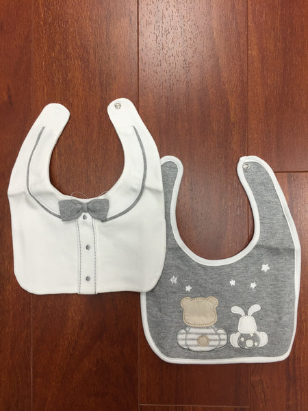 Heather Grey Bib Set