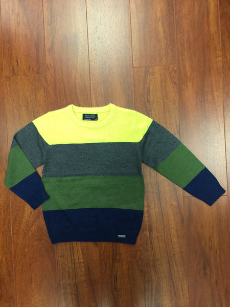Hunter Green Stripes Sweater