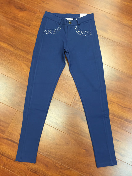 Navy Knit Jeggings