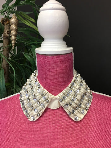 Silver/Gold Peter Pan collar with pearls and diamonds